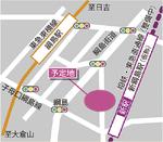 区民文化センターの整備予定地(案内図は現況)