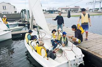 6人乗りヨットで海原へ