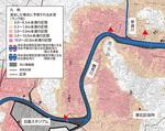 〈写真【1】〉港北区のハザードマップ=国交省資料より