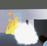 消火体験時のゲーム画面の一部