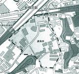 点線の内側が再開発事業検討エリア(市ホームページより)