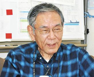 綱島商店街連合会会長中森伸明さん(73)