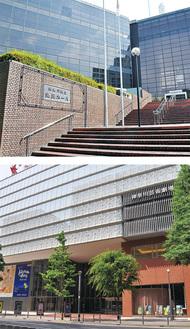 市内の主な劇場『神奈川県立県民ホール』写真上(舞台機構=オーケストラピット)『神奈川芸術劇場KAAT』写真下(舞台・後舞台、オーケストラピット)※横浜市の資料より