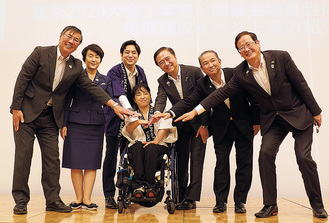 立石さん田口さんを囲んだ首長