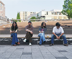 すきっぷ広場でメンバーと