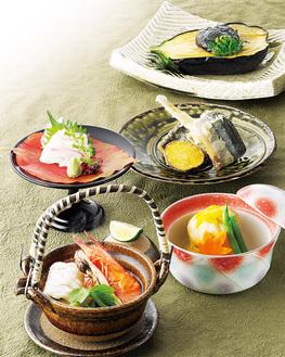 「秋の味覚御膳」は、平日昼・夜、土日祝は夜のみ提供