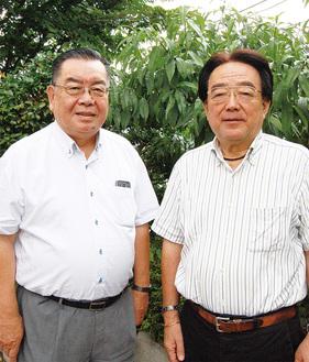 「皆で喜びを分かちあいたい」と話す金子会長(左)と顧問の蕪木さん