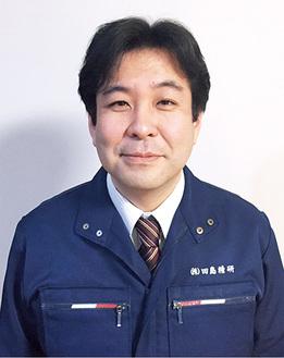 インタビューに答える田島代表取締役