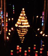 幻想的な竹灯籠