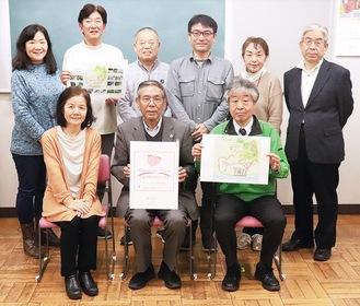 中森委員長(前列中央)らプロジェクトのメンバー