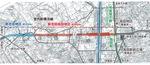 整備される宮内新横浜線(新吉田高田地区、新吉田地区)の平面図=横浜市提供(一部加工)