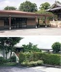 開放的な空間の斎場(上)や豊かな緑に囲まれた斎場(下)