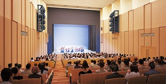 ホールの完成イメージ(横浜市提供)