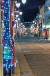 大倉山駅の改札を出て左方面に広がるイルミネーション