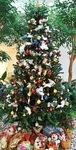 職員が同院1階ロビーに飾ったツリー