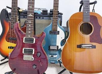 ギター、ベース、キーボード、アンプなど