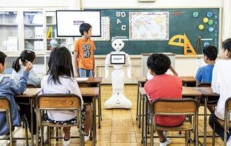 ペッパーを活用した授業©SoftBank Robotics