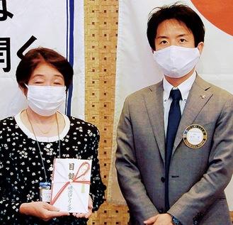 南竹会長(右)と齋藤代表=提供写真