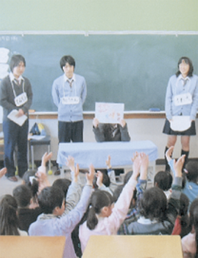 新羽小で非行防止教室