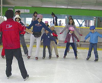親子でスケート教室