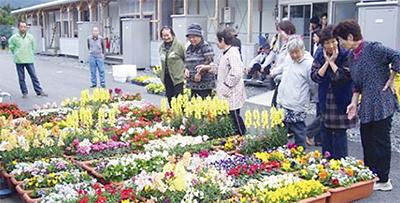 花で被災地支援