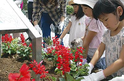 花いっぱいの大倉山に