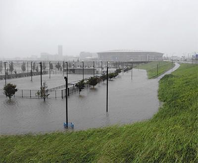 今年3回目の洪水調節