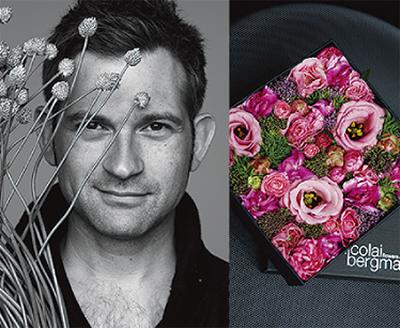 北欧の花と食器を鑑賞