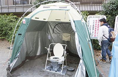 初の震災時トイレ訓練