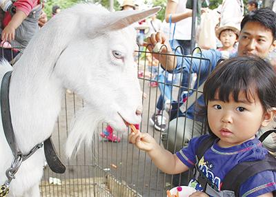 移動動物園に3千人