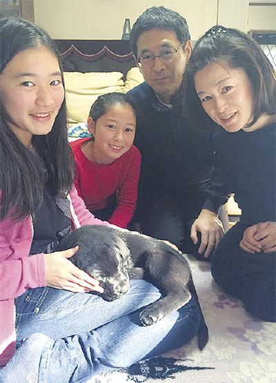 介助犬飼育に協力