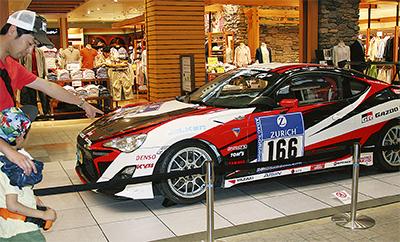 レース車両など展示