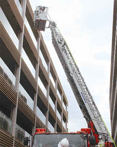 恒例の消防訓練を実施