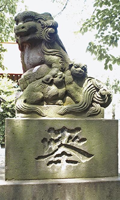 横浜北部の珍狛犬