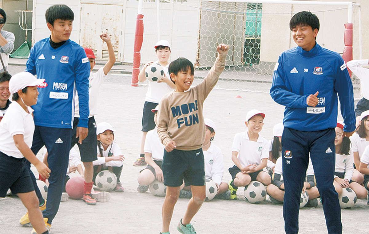 山田選手(右)と久保選手