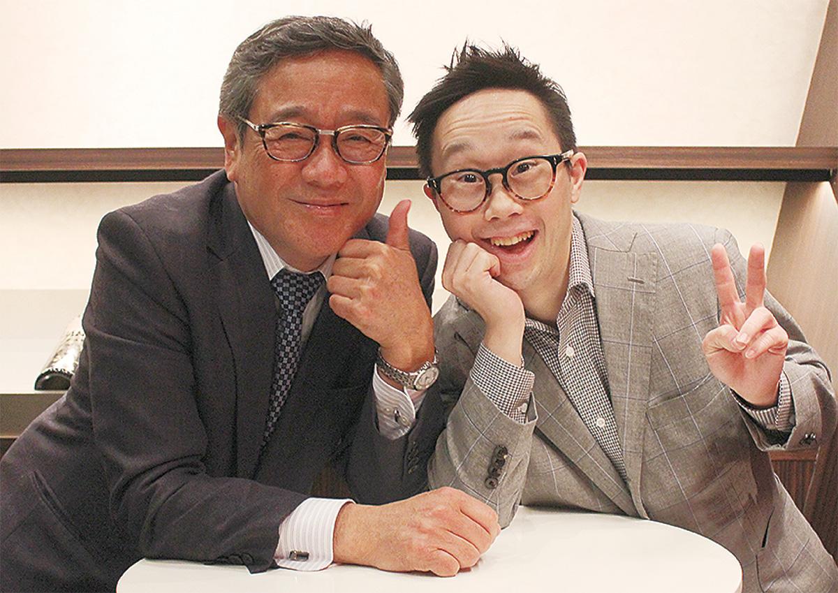 あべけん太さん(右)と父・俊秀さん