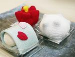 布で作った和菓子の室礼(715円)