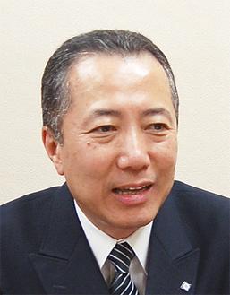 火災予防について話す松田署長