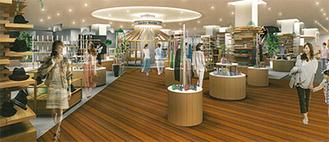 都筑阪急1階の改装後イメージ