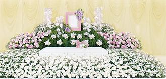 デザイナーが手がける花祭壇