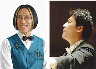 指揮の宮川彬良(左)と金聖響