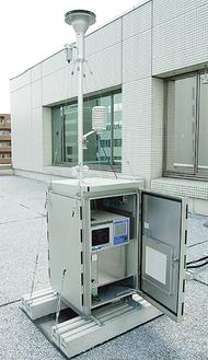 総合庁舎に新設された測定器