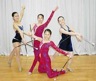左から安部仁美さん、若林穂花さん、安部文香さん、野井なつみさん