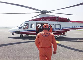 横浜消防局の新型ヘリ