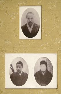 象山、恪二郎、順子写真(真田宝物館所蔵、写真提供)