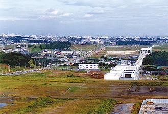 開発途中のセンター南駅周辺(1992年/区役所提供)
