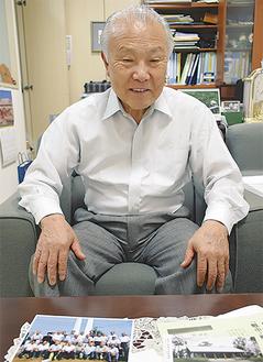 都筑区遺族会・横浜市遺族会の会長を務める皆川健一さん。「私たちは戦争の悲惨さを伝え、今の平和をかみしめる必要がある」と話す。