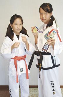 優勝した未央さん(写真右)と妹の菜央さん