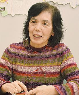 「被災地の方と一緒に前に進みたい」と話す図子俊子さん(69)