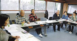 5日、地区センターで行われた関係者会議